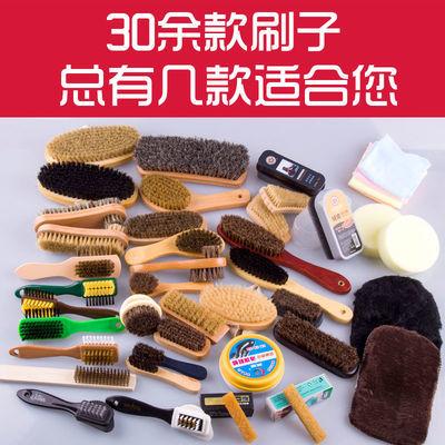 软毛鞋刷清洁多功能翻毛鞋刷绒面刷皮鞋文玩大衣鞋擦马毛刷猪毛刷
