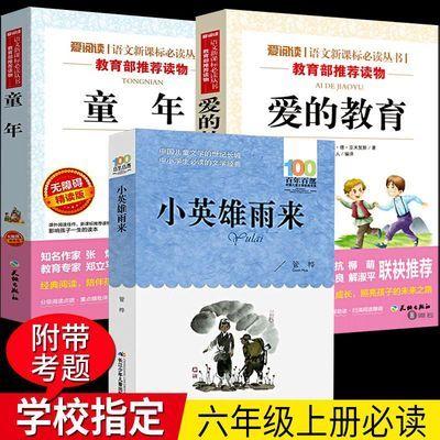 小英雄雨来正版六年级 全3册童年高尔基爱的教育小学生必读课外书