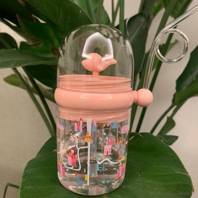 小鲸鱼喷水杯创意网红ins便携随手金鱼杯夏季儿童耐摔塑料玩具水
