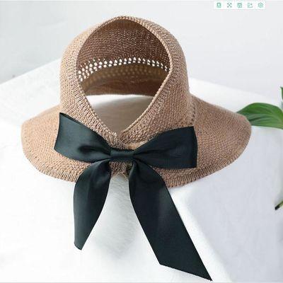 卷卷遮阳帽大帽檐防晒帽子太阳帽女空顶帽夏季凉帽时尚百搭可折叠
