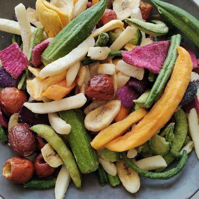 果蔬脆混合果蔬干综合蔬菜脆批发秋葵脆香菇脆什锦蔬菜干零食网红