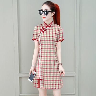 旗袍改良版连衣裙女2020夏新款中国风复古法式气质年轻款少女