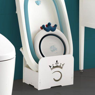 婴儿浴室收纳架宝宝脸盆架浴盆架卫生间落地式置物架家用洗澡盆架