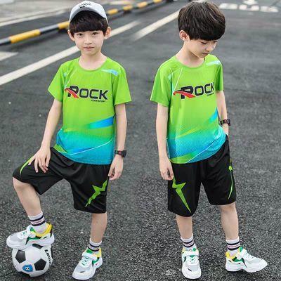 男童夏季运动套装2020新款中大童帅气速干衣儿童装短袖短裤篮球服
