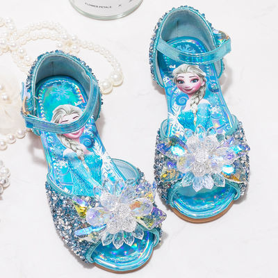 女童凉鞋2020新款洋气宝宝公主鞋爱莎儿童夏季女孩水晶冰雪奇缘鞋