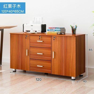 木质办公柜文件柜带锁三抽屉资料柜活动柜储物移动矮柜桌下小柜子