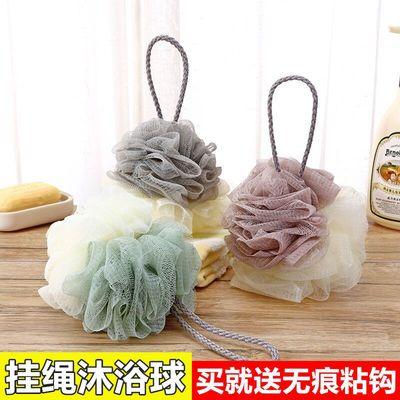 拼色沐浴球浴花成人洗澡球儿童浴花泡澡洗澡球搓背用品搓澡巾