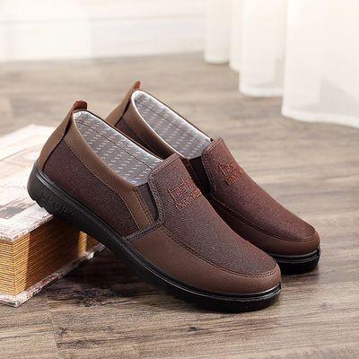 加大码中老年老北京布鞋男休闲鞋秋季20新款透气父亲鞋舒适男单鞋