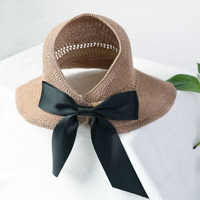 太阳帽女空顶帽卷卷遮阳帽大帽檐防晒帽子夏季凉帽时尚百搭可折叠