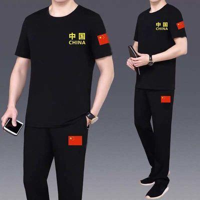 军迷男装套装韩版宽松潮流帅气新款短袖2020男装新品休闲两件套