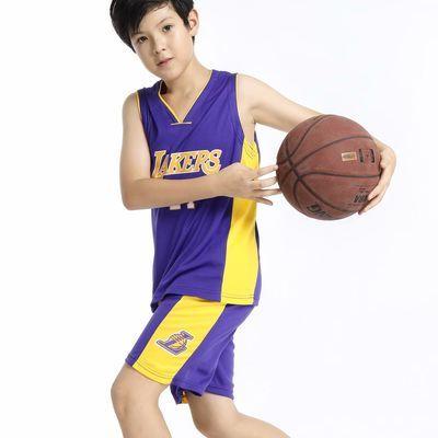NBA篮球服套装男科比背心成人款儿童球衣幼儿园表演服湖人队24号