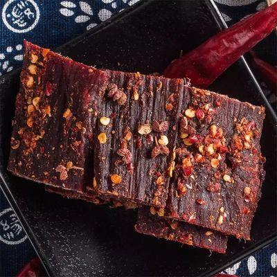 热卖零食正宗西藏特产风干牦牛肉干麻辣500g四川风干耗牛干250g超
