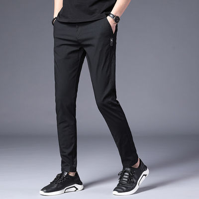 春季裤子男青年韩版潮流修身直筒休闲裤男装长裤子男2020春夏新款