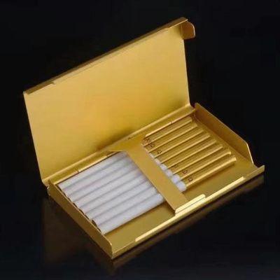 新品金属 铝烟盒20支细烟专用装复古礼品可彩印激光图案超薄烟合