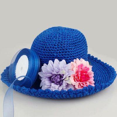 一等品十卷夏季透气雪纺纱丝带编织帽子毛线手工diy夏凉帽遮阳帽