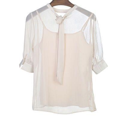短袖时尚夏季雪纺衫2020新款潮流服饰清仓促销雪纺衫时尚品牌