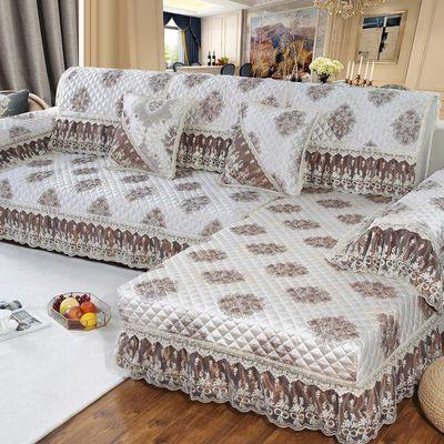 欧式蕾丝沙发垫四季通用全包客厅布艺防滑坐垫加厚万能全盖套罩巾