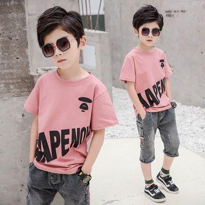 童装男童宽松T恤2020新款儿童短袖迷彩上衣韩版中大童男孩衣服