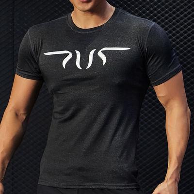 新款健身衣涤纶氨纶运动t恤男短袖跑步速干衣半袖健身服透气吸汗