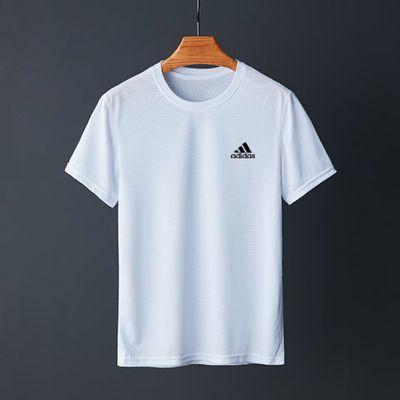 运动速干衣男透气宽松短袖圆领T恤吸汗篮球训练衣