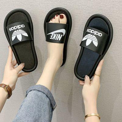 2020拖鞋女夏季时尚学生网红外穿平底居家鞋女防滑耐磨一字拖鞋潮