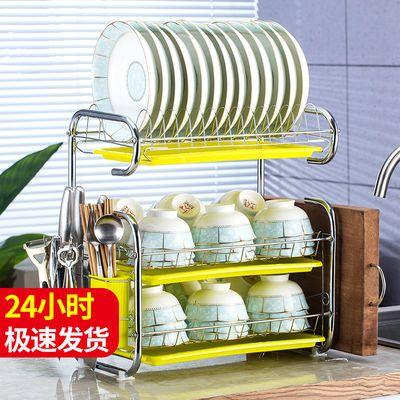 碗架沥水碗碟架厨房置物架盘子架晾放碗架碗筷收纳盒单层两层三层