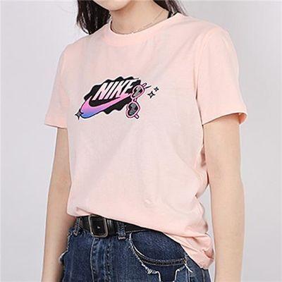 Nike耐克短袖T恤女装2020夏新款透气运动半袖圆领体恤CU9696-664