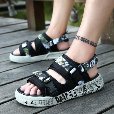 2020夏季新款凉鞋男男士凉鞋潮流韩版个性拖鞋休闲凉拖防滑沙滩鞋