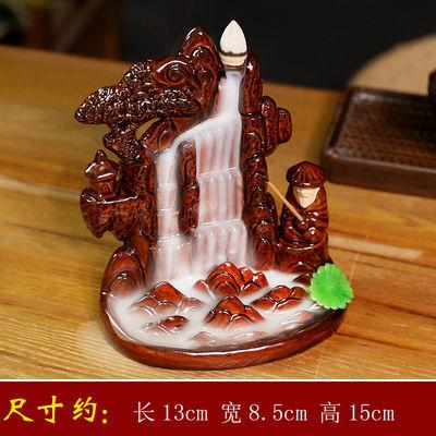 新款陶瓷倒流香炉创意摆件檀香炉家用大号高山流水花瓶香薰炉送香
