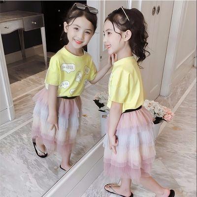 童装女童T恤5岁夏季小女孩7岁短袖上衣儿童中大童9岁潮宝宝衣服