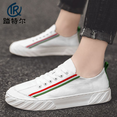 2020年新款流行帆布板鞋男士休闲百搭潮流小白鞋平底学生夏季潮鞋