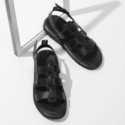 斯米尔牛筋底真皮凉拖鞋耐磨2020夏季新品 日常 休闲拖鞋男装外穿