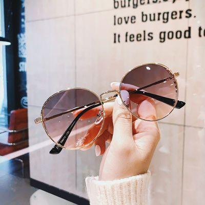 2020新款时尚复古圆形挡风镂空设计太阳镜女潮流墨镜男士潮人眼镜