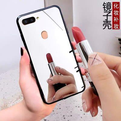 网红补妆镜oppoR15手机壳r11s/a1a3/a5/a7x/k1/r17防摔全包软壳女