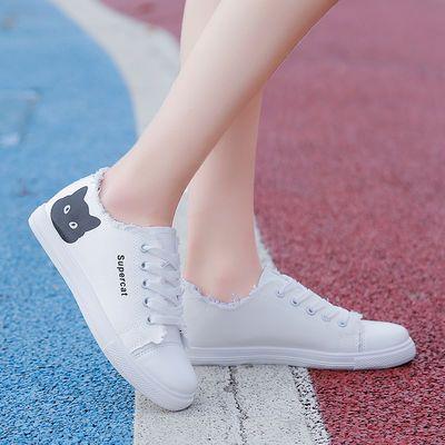 新品春季帆布鞋女学生韩版2020新款百搭原宿夏季小白鞋平底板鞋运