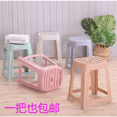 塑料凳家用大中小布条凳子加厚胶凳浴室板凳客厅餐桌高矮凳梳妆椅