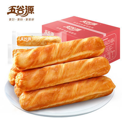 五谷源手撕面包棒整箱252g/720g网红零食品早餐糕点心夹心小面包