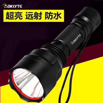 户外强光手电筒远射超亮防水防身电灯电筒可充电激光手电家用手灯