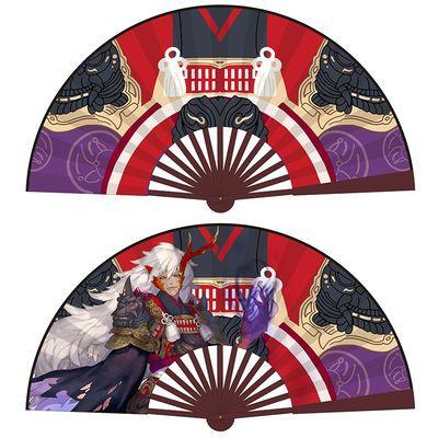 阴阳师折扇 大天狗 晴明扇子cosplay和风扇纸晴明原版折扇1:1