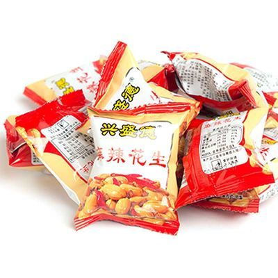 热卖食品河南开封特产兴盛德麻辣花生仁五香花生米坚果炒货小零食