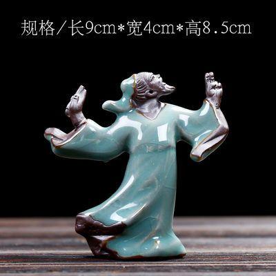 哥窑小和尚微景观盆景造景装饰品茶宠花盆桌面禅意迷你小摆件陶瓷