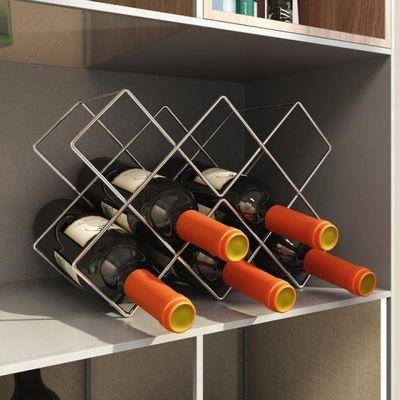 创新摆件红酒架格子葡萄酒展示酒托架酒柜酒瓶摆件创意现代简约客