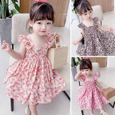 三岁女童连衣裙夏网红洋气夏装儿童裙子夏7岁8岁女孩公主裙童装女