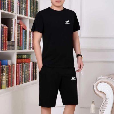 【富贵鸟男装】休闲套装男夏短袖短裤两件套中青年新款跑步运动服