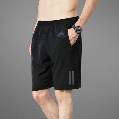 短裤男休闲五分裤男士跑步健身运动短裤男宽松速干潮流沙滩大裤衩