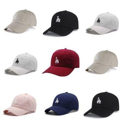 NY棒球帽子la小标MLB糖果色男女款情侣百搭ins休闲潮流爆款鸭舌帽