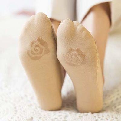大码船袜女硅胶防滑浅口隐形韩版袜子夏天短袜冰丝夏季超薄款
