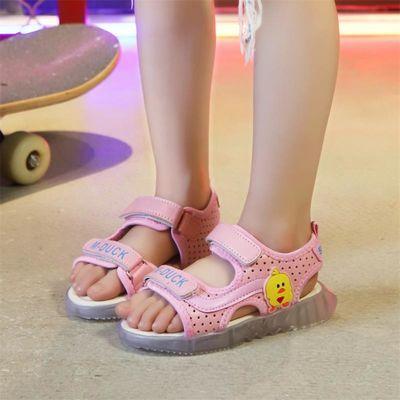 清仓 男童凉鞋夏新款亮灯小中童学生软底宝宝1-8岁儿童凉鞋女公主