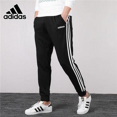 阿迪达斯小脚裤子男裤2020夏季收口运动裤休闲长裤条纹卫裤DU0468