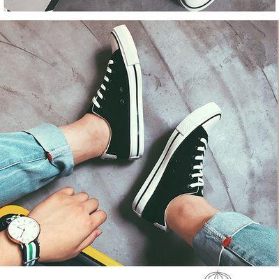 新款男士帆布鞋男款男鞋青少年韩版潮流男装运动跑步学生休闲板鞋